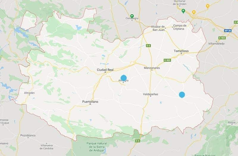mapa pueblos bonitos de ciudad real
