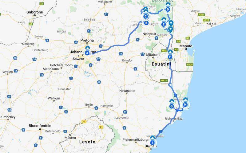 ruta viaje a sudafrica por libre - parte uno