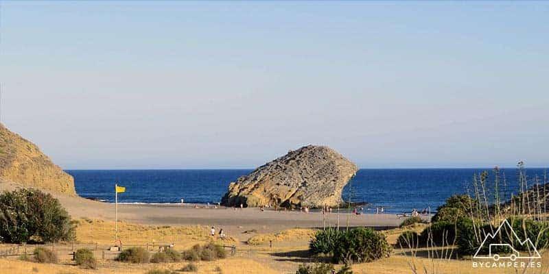 playa de monsul - cabo de gata en autocaravana