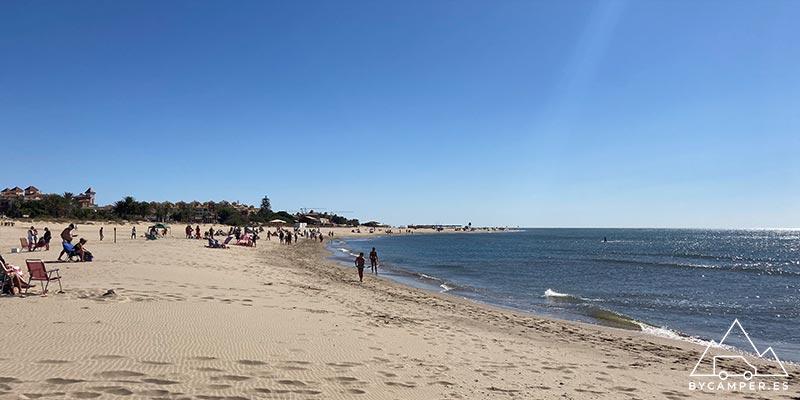 playa de isla canela - playas de huelva