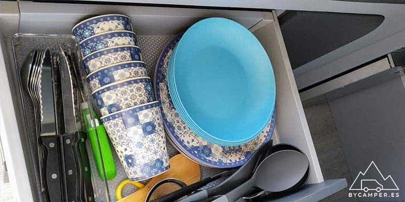 utensilios de cocina camper
